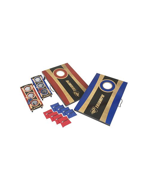 VIVA SOL Triumph Tournament 2-in-1 Bag Toss and 3-Hole Washer Toss Combo