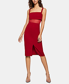 BCBGeneration Mesh-Inset Sheath Dress