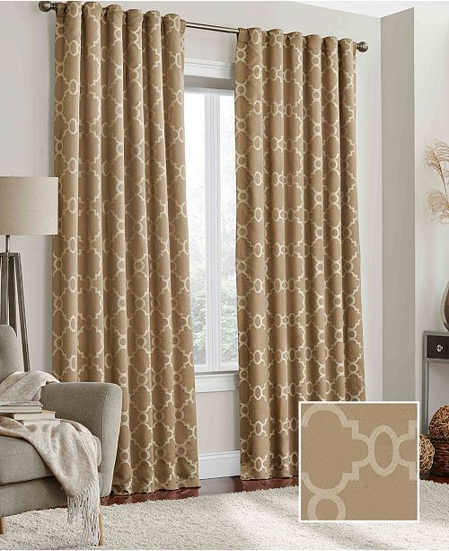 """Eclipse Correll Blackout 52"""" x 63"""" Curtain Panel"""