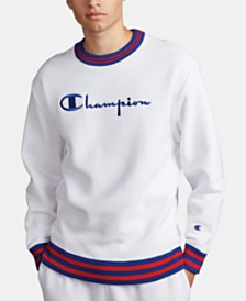 Champion Men's C-Life Varsity-Stripe Sweatshirt