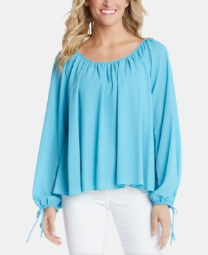 Karen Kane Tops TIE-SLEEVE PEASANT TOP