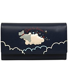 Dare to Dream Leather Matinee Flapover Wallet