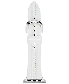 kate spade new york Women's White Leather Apple Watch® Strap