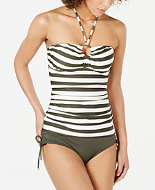 MICHAEL Michael Kors Tankini Top & Side-Tie Bikini Bottoms