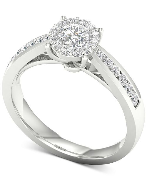 Macy's Diamond (3/4 ct. t.w.) Engagement Ring in 14k White Gold