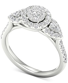 Diamond (7/8 ct. t.w.) Engagement Ring in 14k White Gold