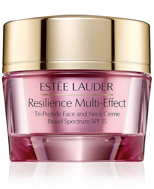 Estee Lauder Resilience Multi-Effect Tri-Peptide Face & Neck Creme SPF 15, 2.5 oz.