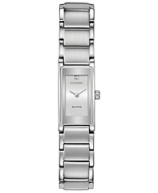 Eco-Drive Women's Axiom Stainless Steel Bracelet Watch 15mm