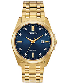 Citizen Eco-Drive Men's Corso Gold-Tone Stainless Steel Bracelet Watch 41mm