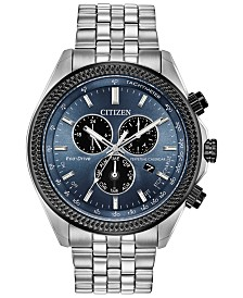 Citizen Eco-Drive Men's Chronograph Brycen Stainless Steel Bracelet Watch 44mm
