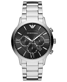 Emporio Armani Men's Chronograph Stainless Steel Bracelet Watch 44mm