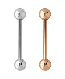 Bodifine Stainless Steel Set of 2 Colors Tongue Bars