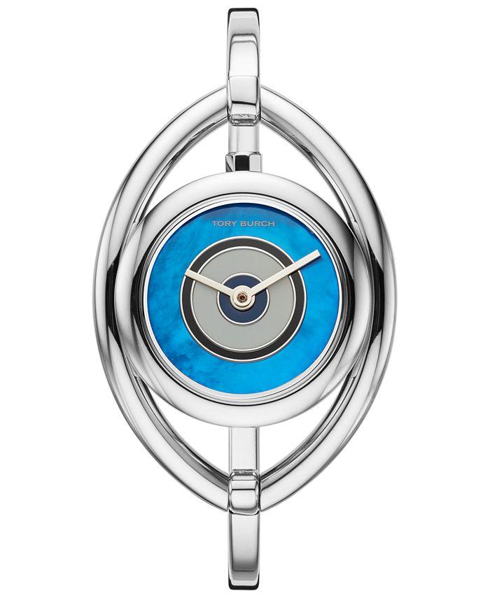 Tory Burch - Women's Evil Eye Stainless Steel Bangle Bracelet Watch 25mm