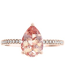 EFFY® Morganite (1-1/2 ct. t.w.) & Diamond Accent Ring in 14k Rose Gold