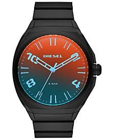 Men's Stigg Black Stainless Steel Bracelet Watch 48mm