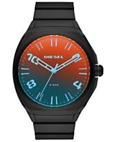 8be202589af0 Diesel Men s Stigg Black Stainless Steel Bracelet Watch 48mm