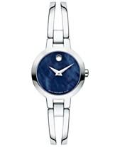 adcadb4257bda LIMITED EDITION Movado Women s Swiss Amorosa Stainless Steel Bangle  Bracelet Watch 24mm