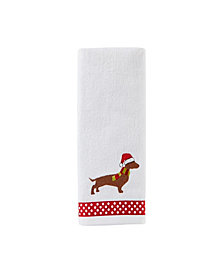 Holiday Hound 2-Pc. Hand Towel Set