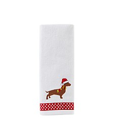 Holiday Hound 2-Pc. Hand Towel Set