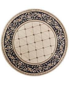 "KAS Avalon Courtyard 7'10"" Round Area Rug"