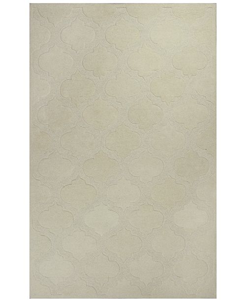 Kas CLOSEOUT! Eternity Arabesque 1069 Ivory 5' x 8' Area Rug