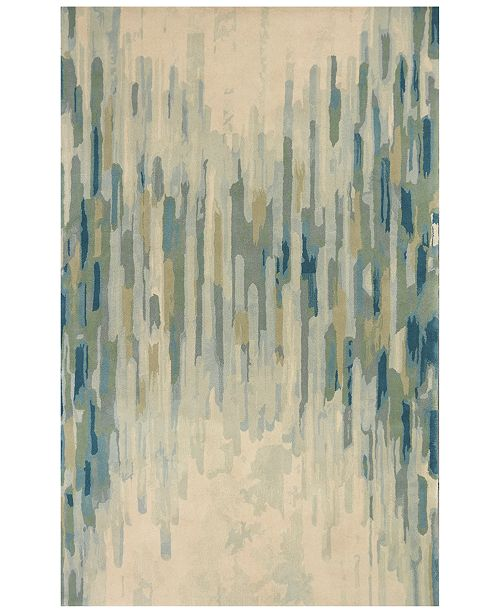 Kas Whisper Shades Of Green 3005 Green 5' x 8' Area Rug