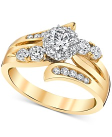Diamond (1 ct. t.w.) Engagement Ring in 14k Gold & White Gold