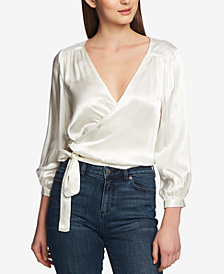 1.STATE Cropped Wrap Top
