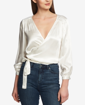 1.state Tops CROPPED WRAP TOP