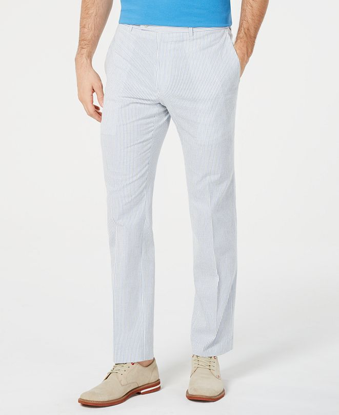 Lauren Ralph Lauren Men's Classic-Fit Seersucker Dress Pants