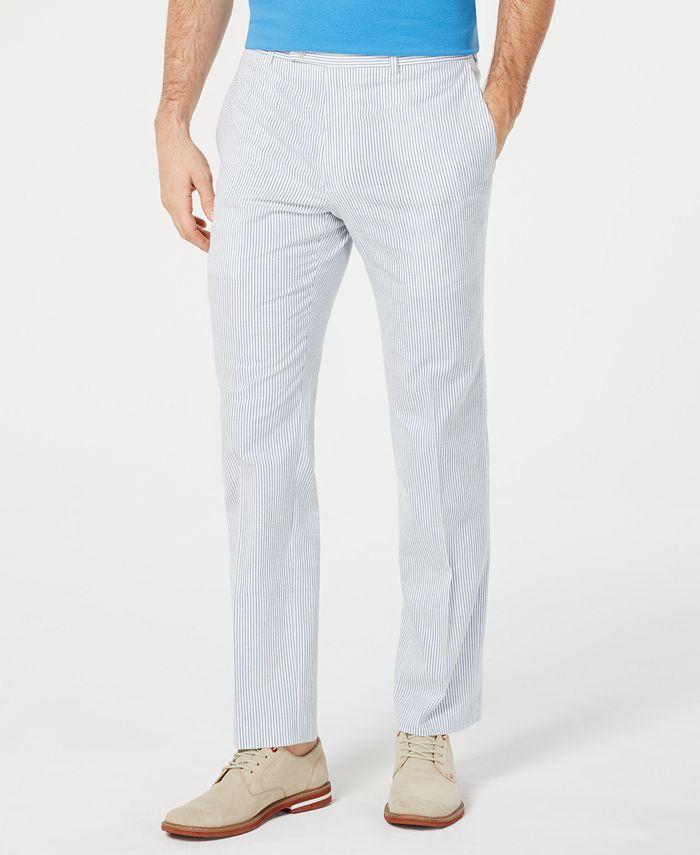 Lauren Ralph Lauren - Men's Classic-Fit Seersucker Dress Pants