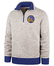 '47 Brand Men's Golden State Warriors Kodiak Quarter-Zip Pullover