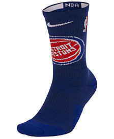 Nike Men's Detroit Pistons Elite Team Crew Socks
