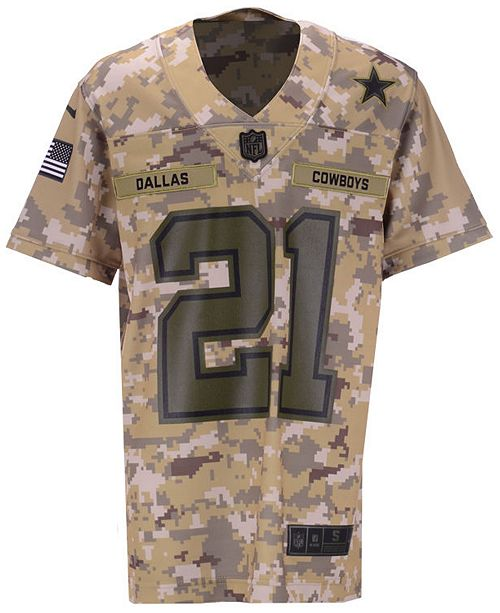 finest selection 7c97a fad19 Nike Ezekiel Elliott Dallas Cowboys Salute To Service Game ...