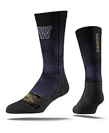 Washington Huskies Full Sublimation Crew Socks