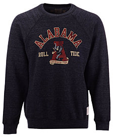 Retro Brand Men's Alabama Crimson Tide Triblend Fleece Crew Sweatshirt
