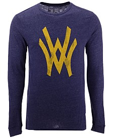 Retro Brand Men's West Virginia Mountaineers Mock Twist Long Sleeve T-Shirt