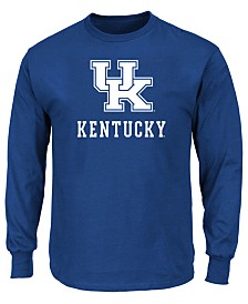 Profile Men's Big & Tall Kentucky Wildcats Big Logo Long Sleeve T-Shirt