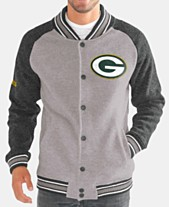 824526421 G-III Sports Men's Green Bay Packers The Ace Player Front Button Jacket