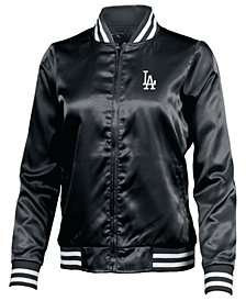 Antigua Women's Los Angeles Dodgers Satin Bomber Jacket