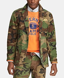Polo Ralph Lauren Men's Camouflage Cotton Canvas Sport Coat