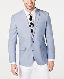Men's Slim-Fit Chambray Sport Coat