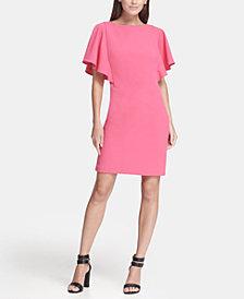 DKNY Flutter Sleeve Sheath Dress, Created for Macy's