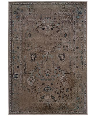 "CLOSEOUT! Area Rug, Revamp REV7551Q Grey 7'10"" x 10'10"""