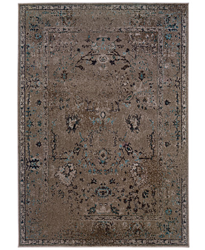 CLOSEOUT! Oriental Weavers Area Rug, Revamp REV7551Q Grey 6'7