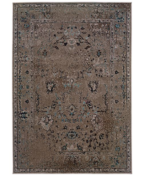 Oriental Weavers CLOSEOUT! Rugs, Revamp REV7551Q Grey