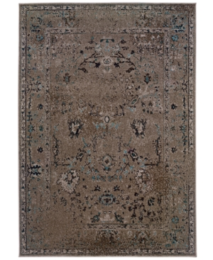 "Oriental Weavers Area Rug, Revamp REV7551Q Grey 6'7"" x 9'6"""