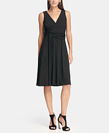 DKNY V-Neck Side Twist Jersey A-Line Dress, Created for Macy's