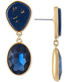 RACHEL Rachel Roy Gold-Tone Crystal & Stone Double Drop Earrings