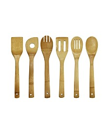 Oceanstar 7-Piece Bamboo Cooking Utensil Set